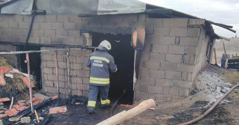 Ağıl yangını: 38 küçükbaş hayvan telef oldu