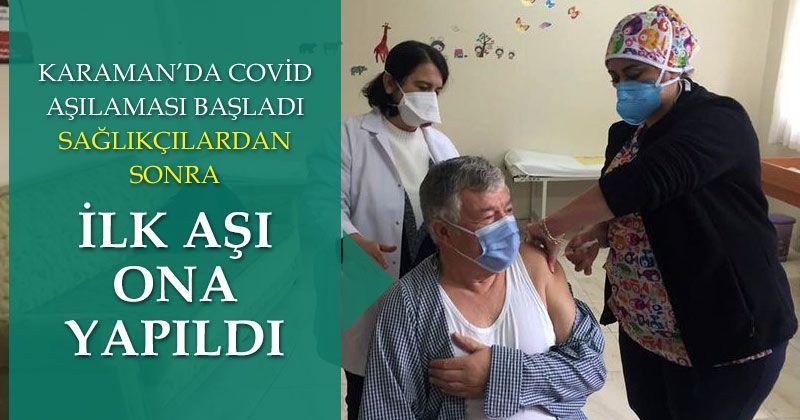 Corona vaccination started in Karaman