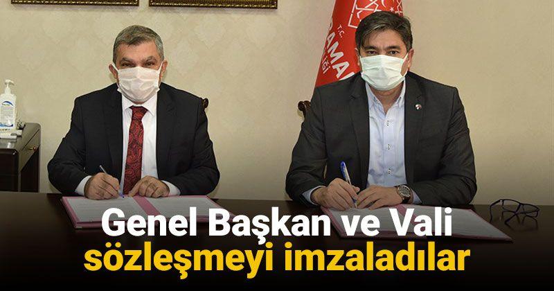 BEM-BİR-SEN Genel Başkanı Uslu ve Vali Işık Tazminat Sözleşmesini İmzaladı
