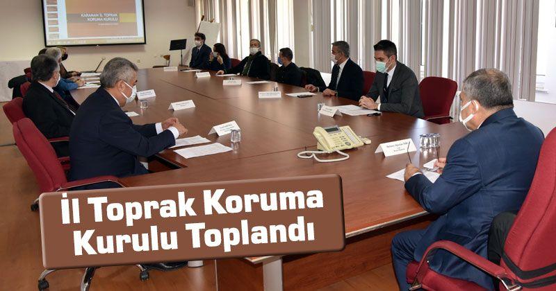 Karaman Provincial Soil Protection Board Gathered
