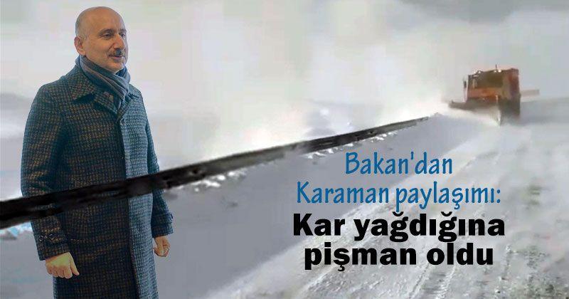Karaman sharing from the Minister