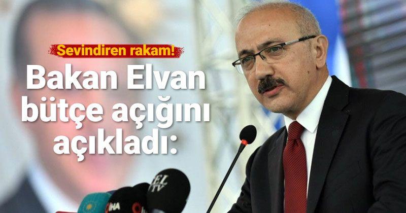 Bakan Elvan'dan bütçe açıklaması