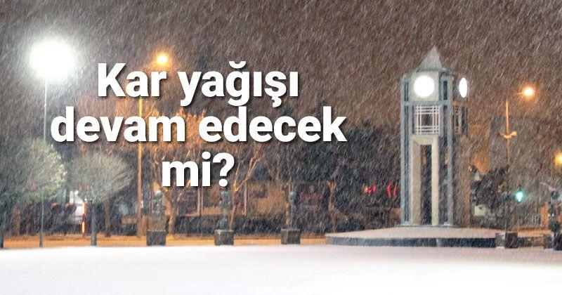 Karaman'da kar yağışı devam edecek mi?