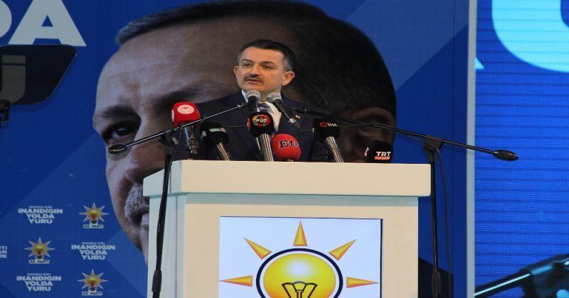 Bakan Pakdemirli: AK Parti ile MHP'nin ittifakı; seçim değil, hizmet ittifakıdır