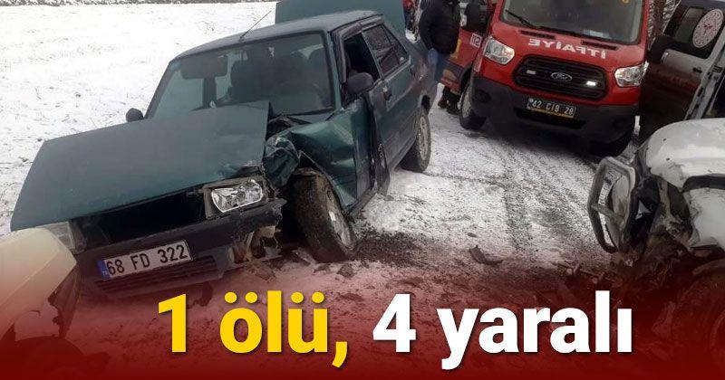 Ereğli'de 3 araç çarpıştı: 1 ölü, 4 yaralı