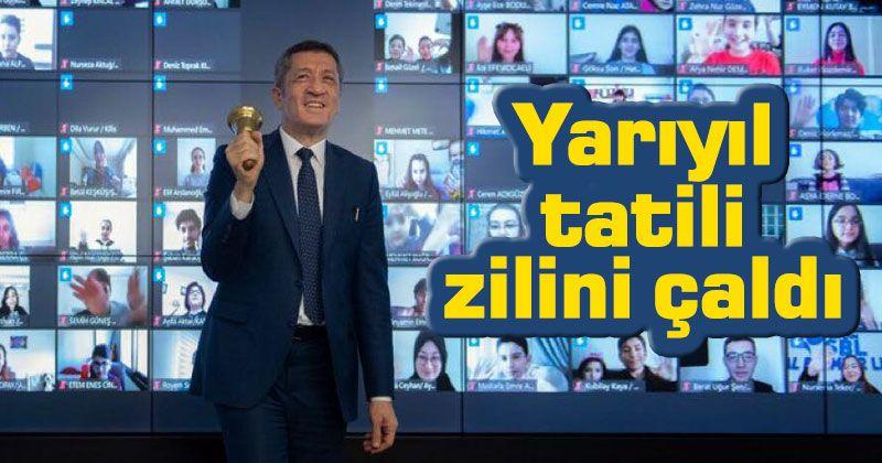 Minister of National Education Ziya Selçuk rang the half-term holiday bell