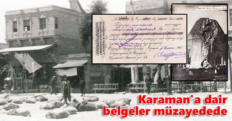 Karaman'a dair belgeler müzayedede