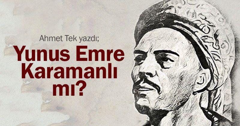 Is Yunus Emre from Karaman?