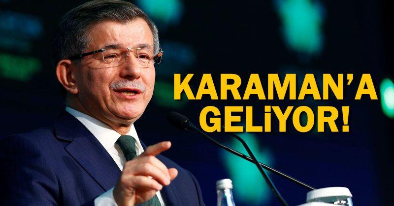 Ahmet Davutoğlu Karaman'a Geliyor
