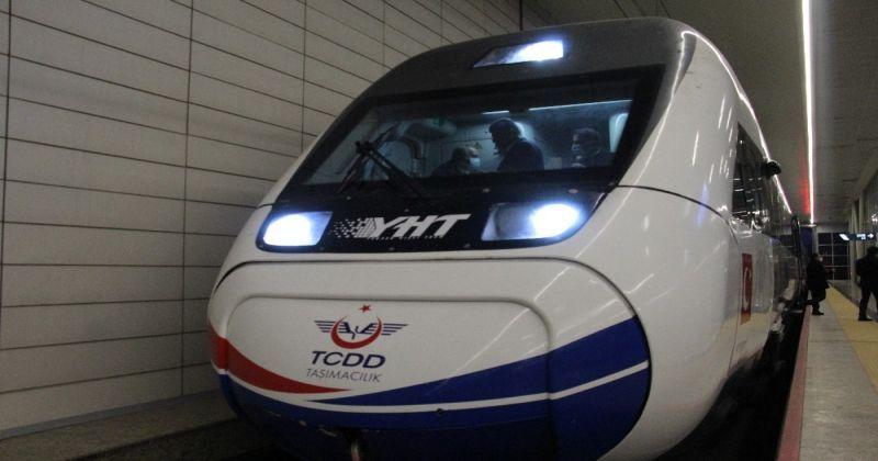 Ankara-Sivas Yüksek Hızlı Tren Hattı Projesi'nde performans testleri başladı