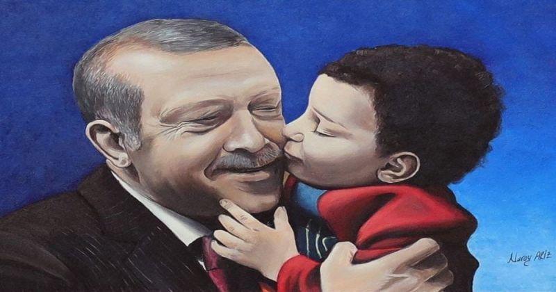 Cumhurbaşkanı Erdoğan, tablo için teşekkür etti