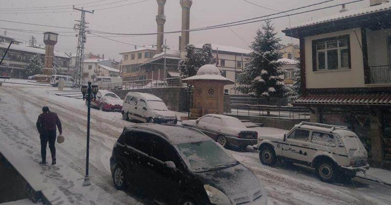 Effective snowfall in Konya's districts
