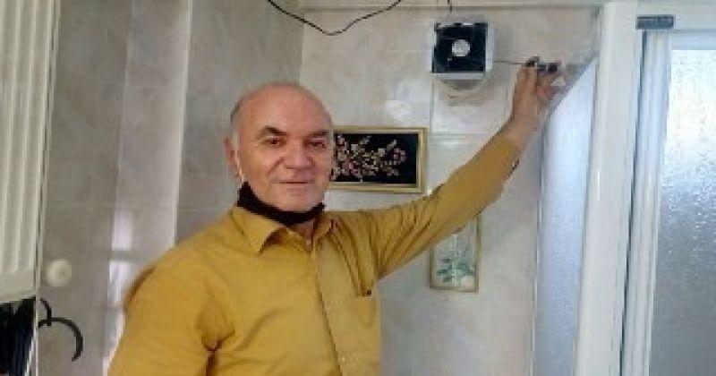 10 yıl üzerinde çalıştığı projeyle evini güneşle ısıttı