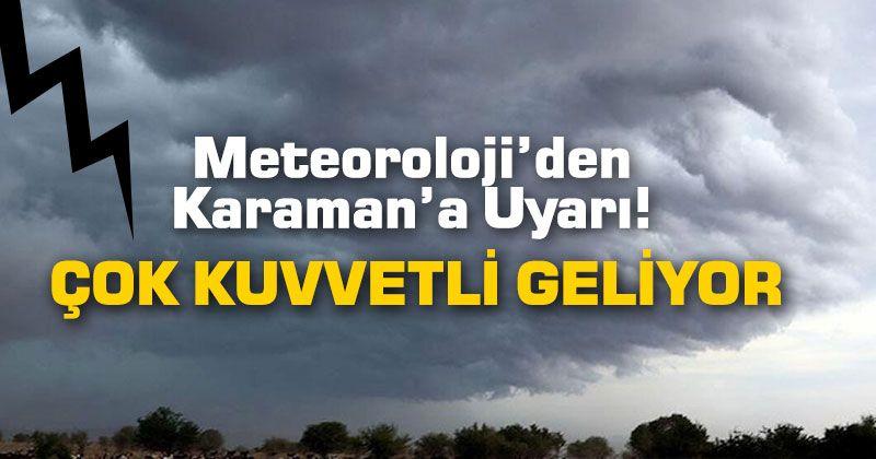 Meteorolojiden Fırtına Uyarısı, Karaman Hava Durumu