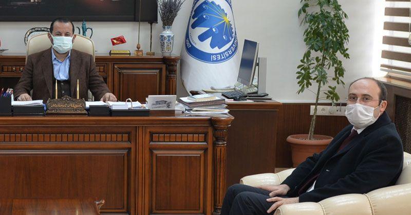 MEVKA Genel Sekreteri İhsan Bostancı'dan Rektör Akgül'e Ziyaret