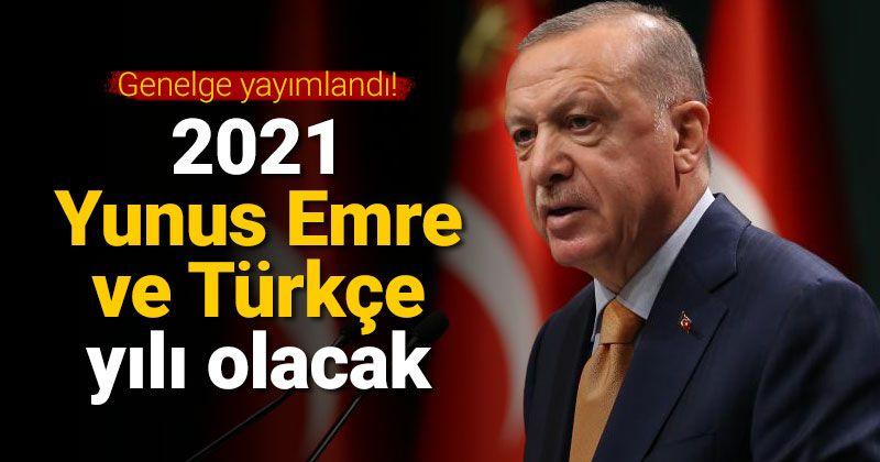 """2021, """"Yunus Emre ve Türkçe Yılı"""" olarak kutlanacak"""