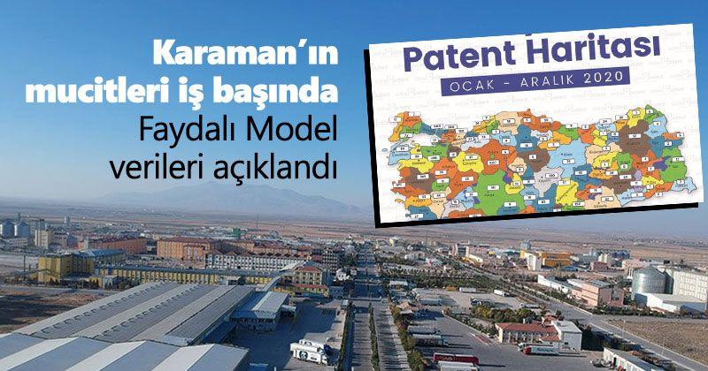 Karaman Faydalı Model verileri açıklandı