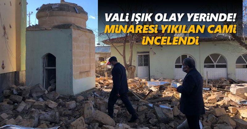 Governor Isik Examined Village Mosque Lightning Down on Minaret