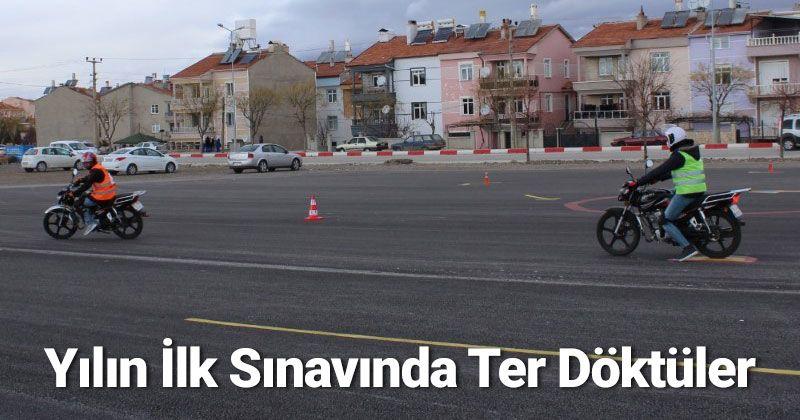 Karaman'da 2021'in ilk direksiyon sınavı