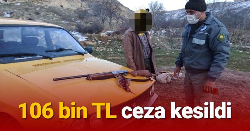 Karaman'da usulsüz ava 106 bin TL ceza!