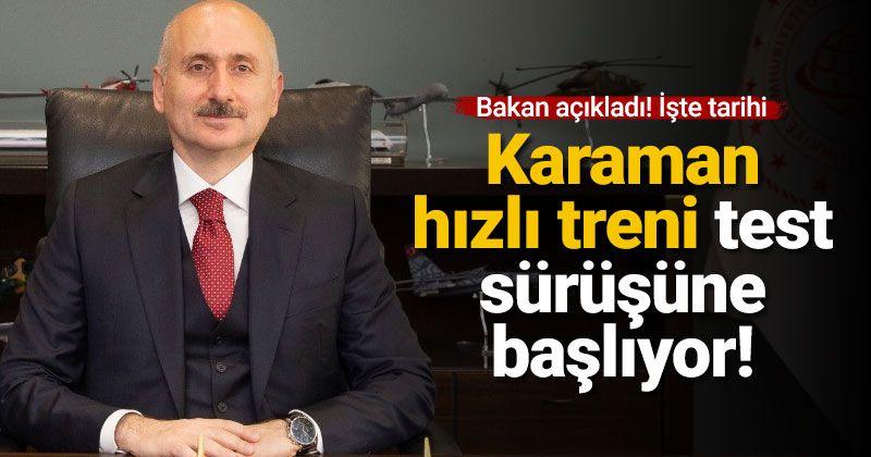 Konya - Karaman YHT hattında test sürüşleri başlıyor