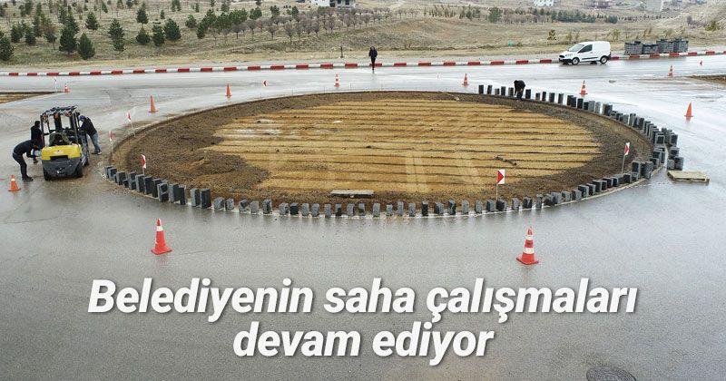 Karaman Belediyesi'nin Saha Çalışmaları Sürüyor