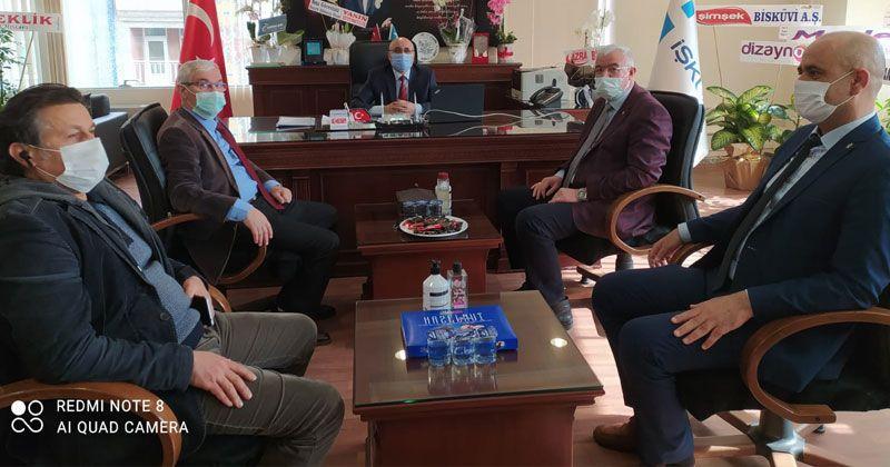 Good Luck Visit From President Çağlayan to Director Sarikaya