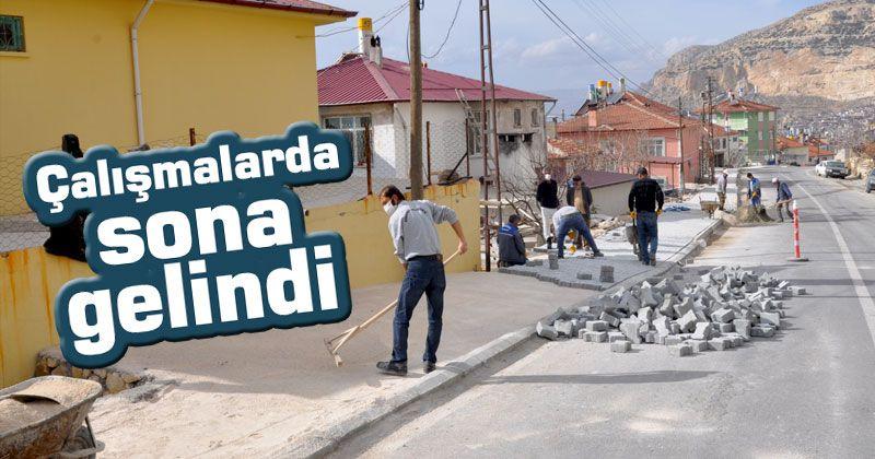 Ermenek Belediyesi yol ve kaldırım çalışmaları