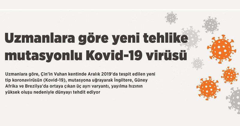 Uzmanlara göre yeni tehlike mutasyonlu Kovid-19 virüsü
