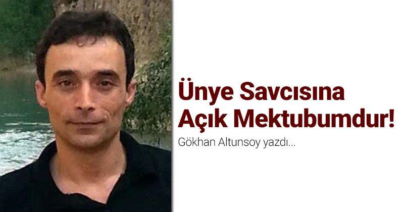 It is My Open Letter to the Ünye Prosecutor!