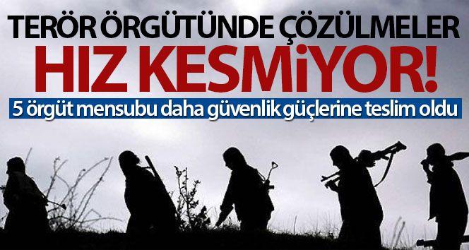 PKK/KCK terör örgütünde çözülmeler hız kesmiyor