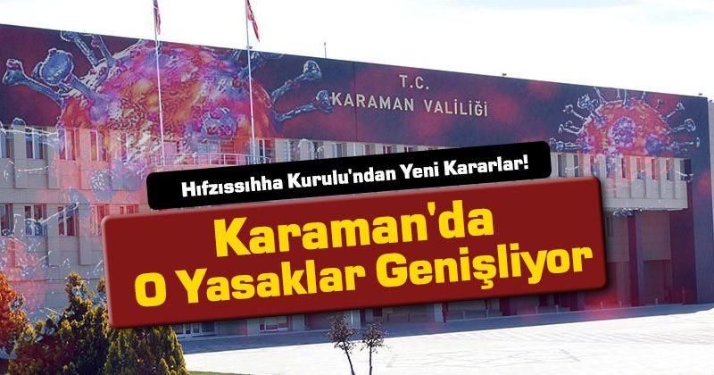 New Decisions from Karaman Hygiene Board!