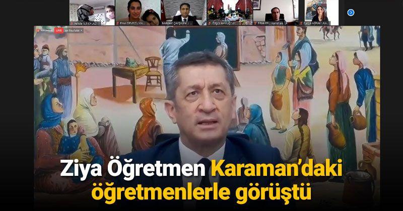 Ziya Öğretmen Karaman'daki Meslektaşları İle Bir Araya Geldi