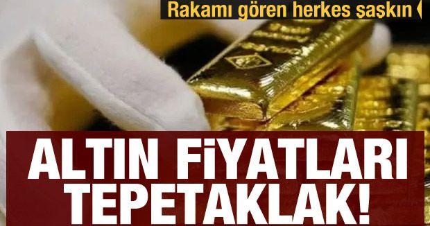 Altın fiyatları tepetaklak! Rakamı gören herkes şaşkın