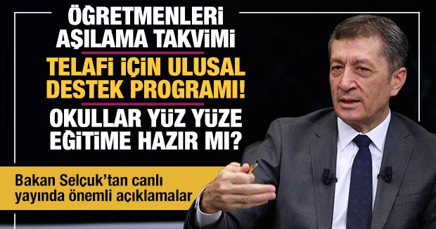 Minister Selçuk: Teachers Vaccination Schedule