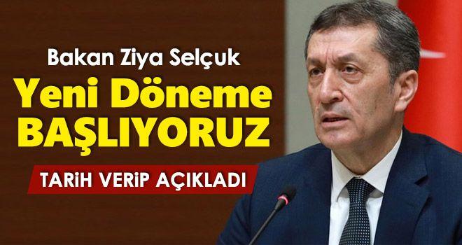 New term statement from Minister Ziya Selçuk