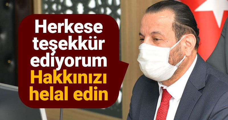 Rektör Akgül, üniversite personeli ile vedalaştı