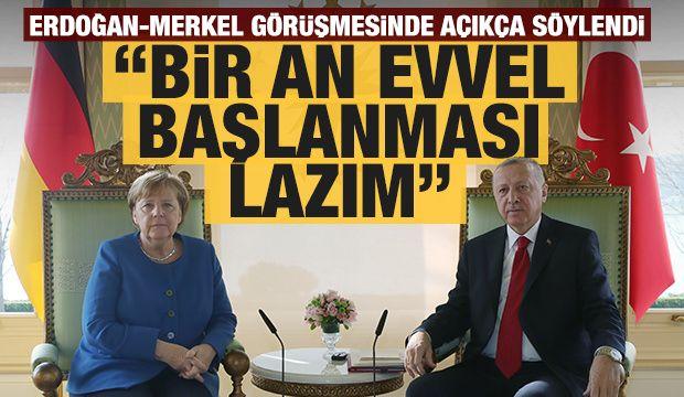 Başkan Erdoğan'dan Merkel'le önemli görüşme