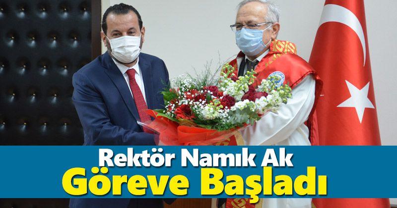 KMÜ Rektörü Prof. Dr. Namık Ak görevine başladı