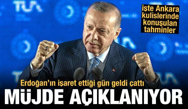 Türkiye Erdoğan'ın bugün açıklayacağı müjdeyi bekliyor