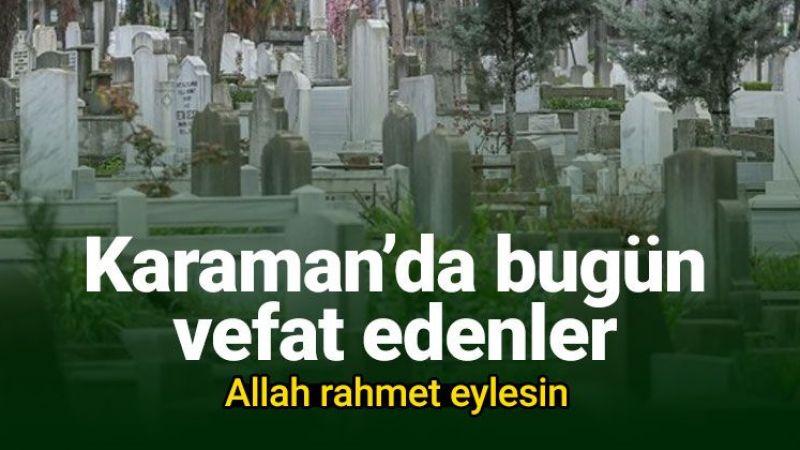 10 Şubat Karaman'da vefat edenler