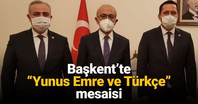 Visit from Deputy Şeker and Eser to Minister Elvan