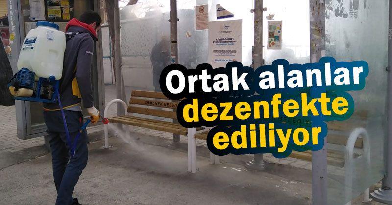 Ermenek Belediyesi virüsle mücadeleyi sürdürüyor
