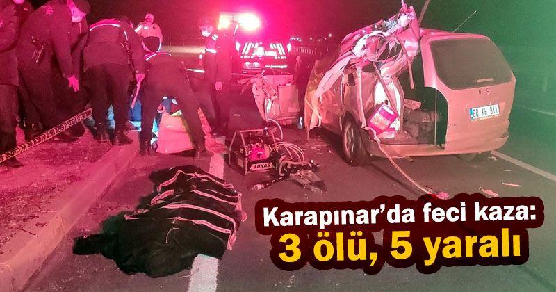 Otomobil tır ile çarpıştı: 3 ölü, 5 yaralı