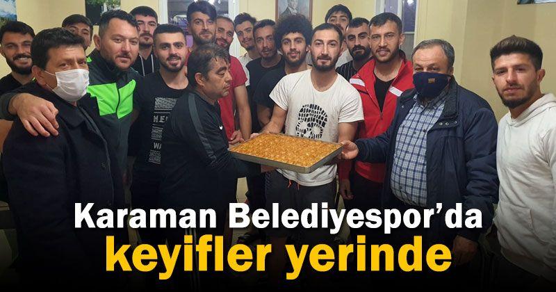 Karaman Belediyespor yöneticileri takıma moral verdi