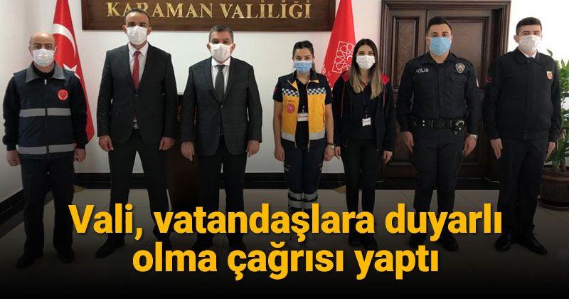 Karaman 112 Personeli Vali Işık'ı Ziyaret Etti