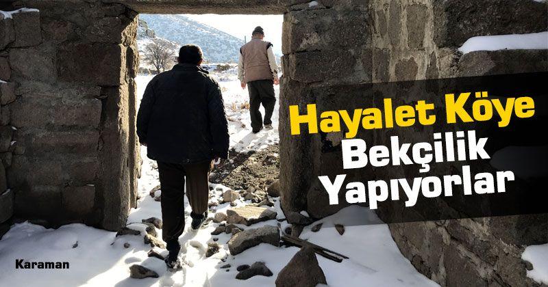 Volunteer guards of Değle archaeological site in Karaman work in turn