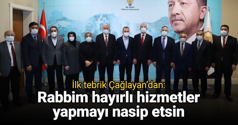 Congratulations from Çağlayan to Öztürk