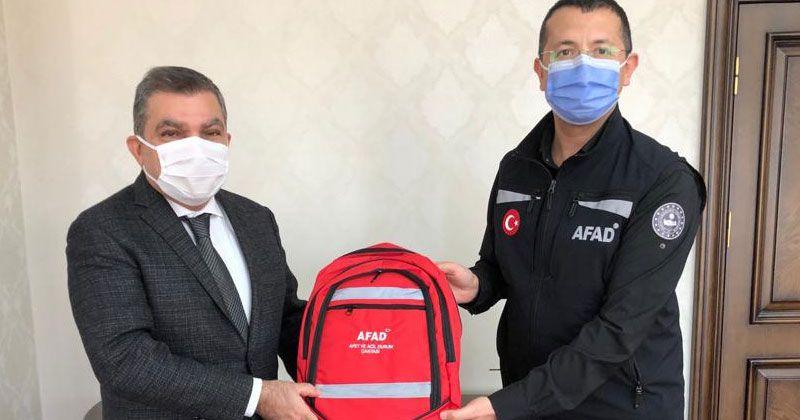 AFAD Planlama ve Risk Azaltma Dairesi Başkanı Tezcan'dan Vali Işık'a ziyaret