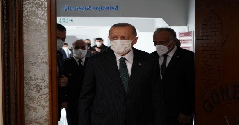 Cumhurbaşkanı Erdoğan, Güneysu Belediyesi'ni ziyaret etti